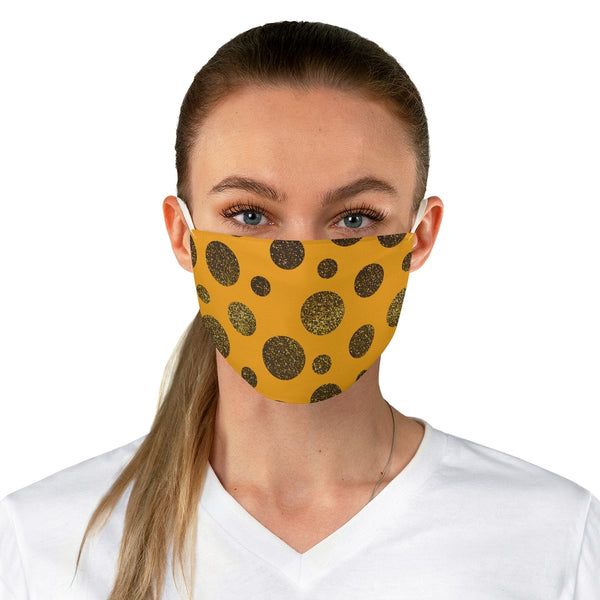 Glitter-Me-Not Goldenrod Fabric Face Mask