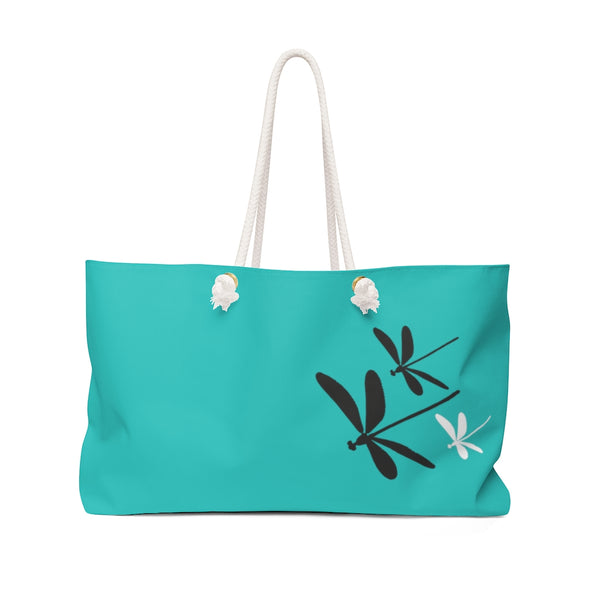 Dragonflies Weekender Bag  - Tiffany | Just Abi Collection