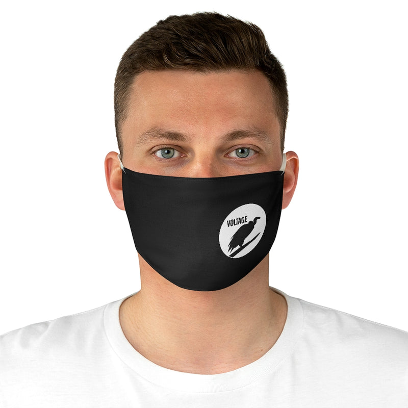 Voltage Black & White Fabric Face Mask