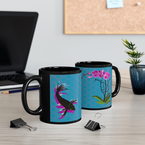 Purple Orchid Koi 11oz Mug | Abi C Designs
