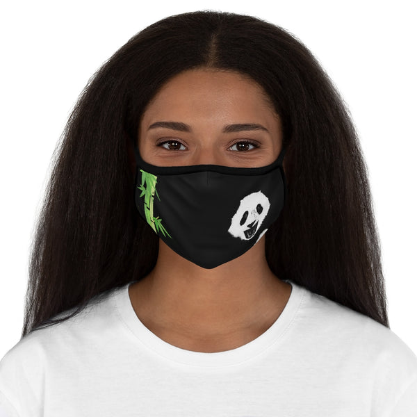 Panda Filter Pocket Fitted Polyester Face Mask | Abi C Designs