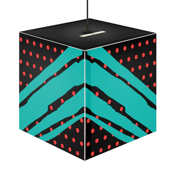 Poppy Dot Tiffany on Black Light Cube | Abi C Designs