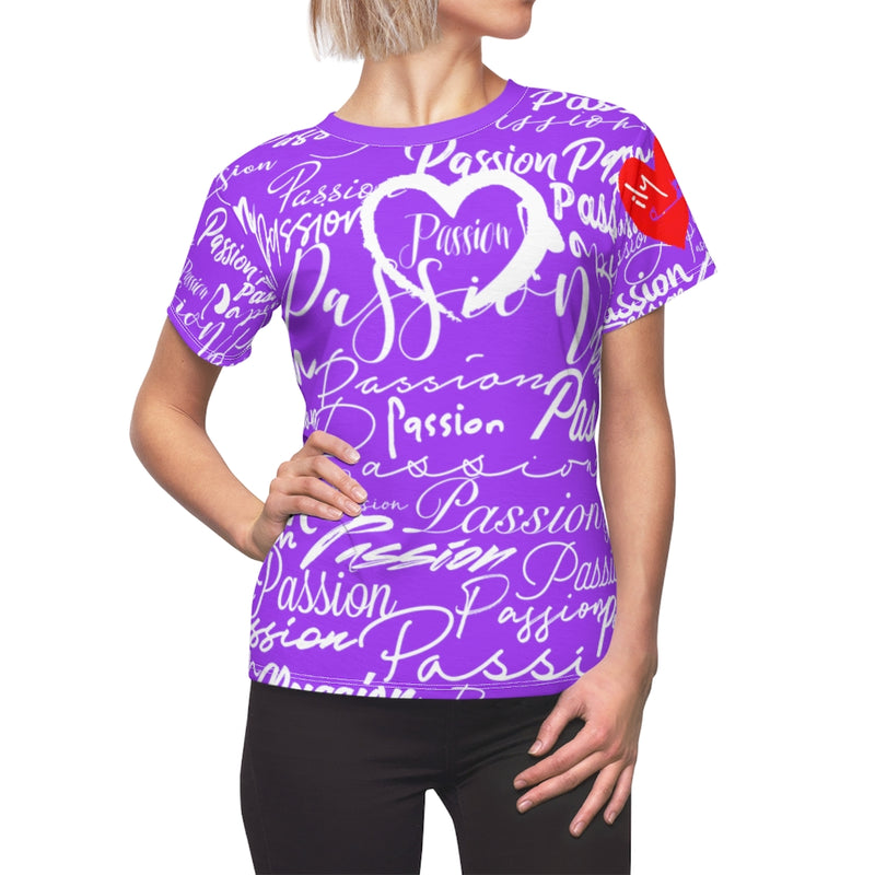 Passion Heart Aster Tee | Just Abi Collection