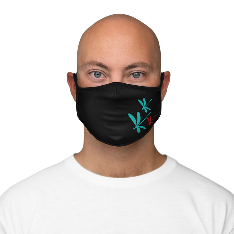 Dragonflies Filter Pocket Fitted Polyester Face Mask | Just Abi Collection