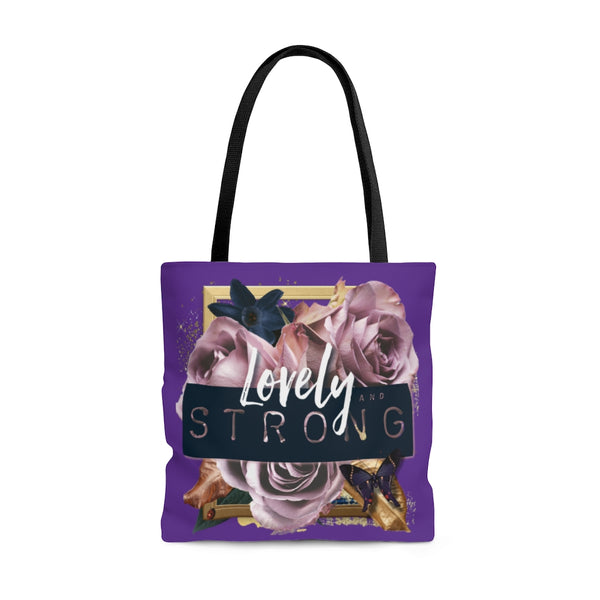 Lovely and Strong Signature Tote Bag (Purple)