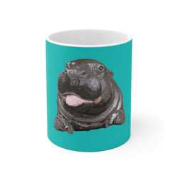 Hippo Tongue White 11oz & 15oz Ceramic Mugs | Just Abi Collection