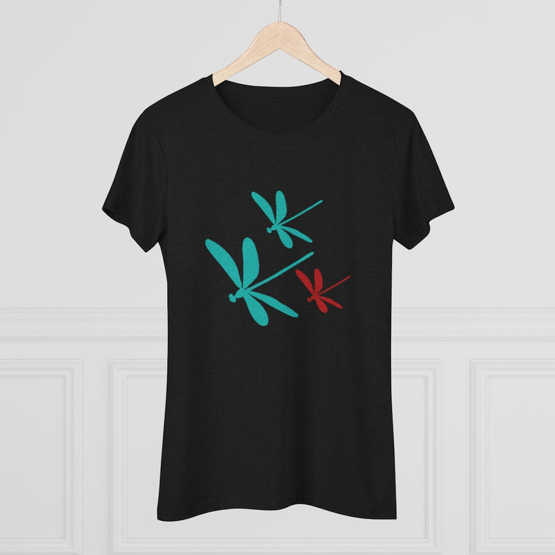 Dragonflies Triblend Tee | Just Abi Collection