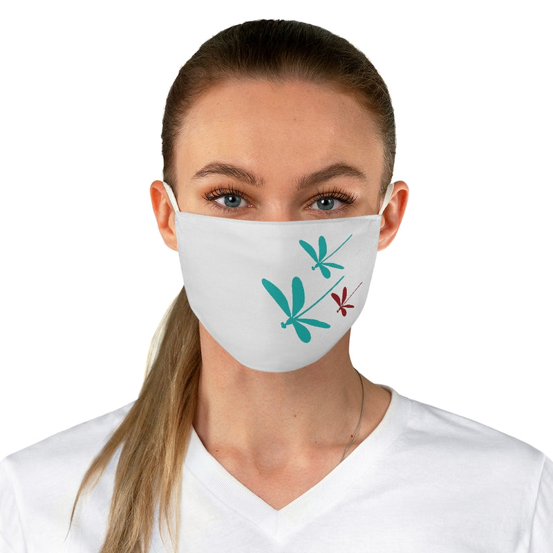 Dragonflies Fabric Face Mask White