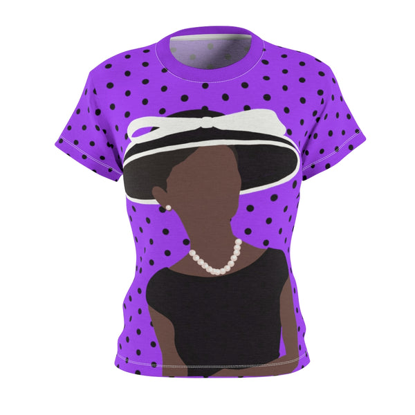 Hat Lady Saundra Aster Tee | Abi C Designs