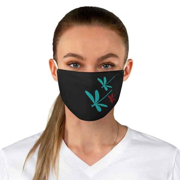 Dragonflies Fabric Face Mask Black