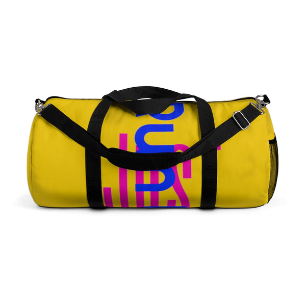 Run With It - Song | Yoga Yellow Polyester Duffle Bags | Just Abi Athletic Collection