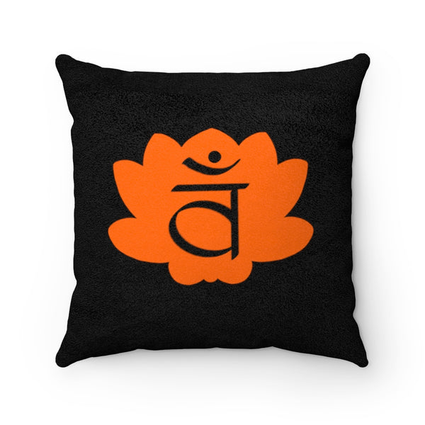 Sacral Chakra Faux Suede Square Pillow | Just Abi Chakra Collection