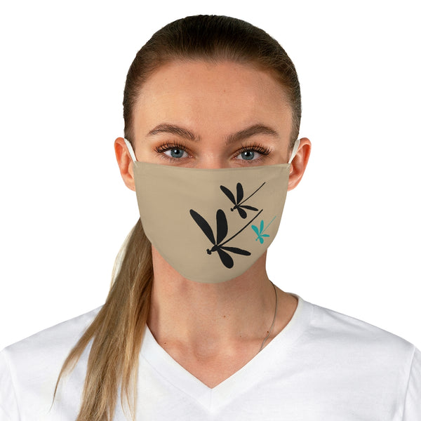 Dragonflies Fabric Face Mask Tan