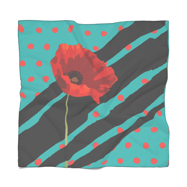 Poppy Dot Scarf Black on Tiffany | Just Abi Collection