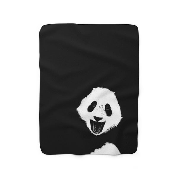 Panda Sherpa Fleece Blanket |Abi C Designs