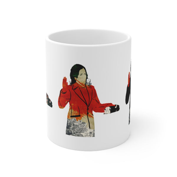 Kamala Oath POP Art Reds Mug 11oz | Just Abi Housewares Collection