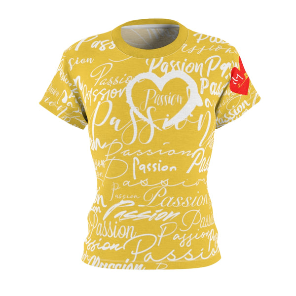 Passion Heart Saffron Tee | Just Abi Collection
