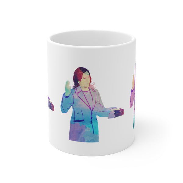 Kamala Oath POP Art Purples Mug 11oz | Just Abi Housewares Collection