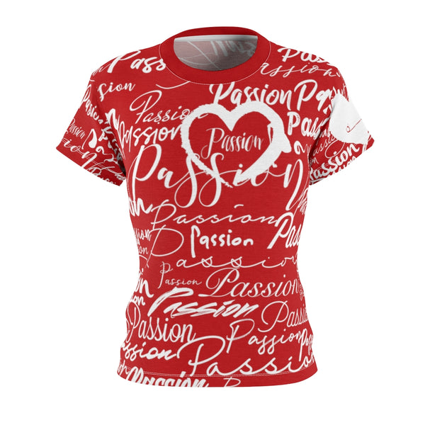 Passion Heart Crimson Tee | Just Abi Collection