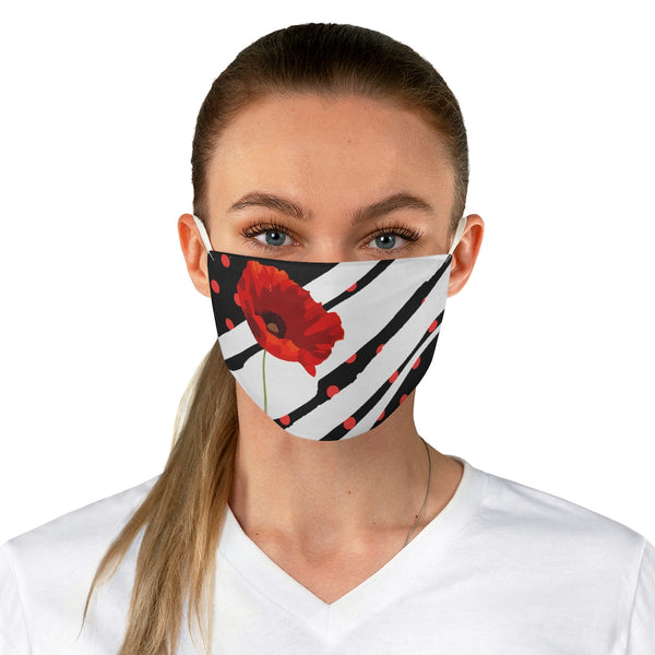 Poppy Dot Face Mask White