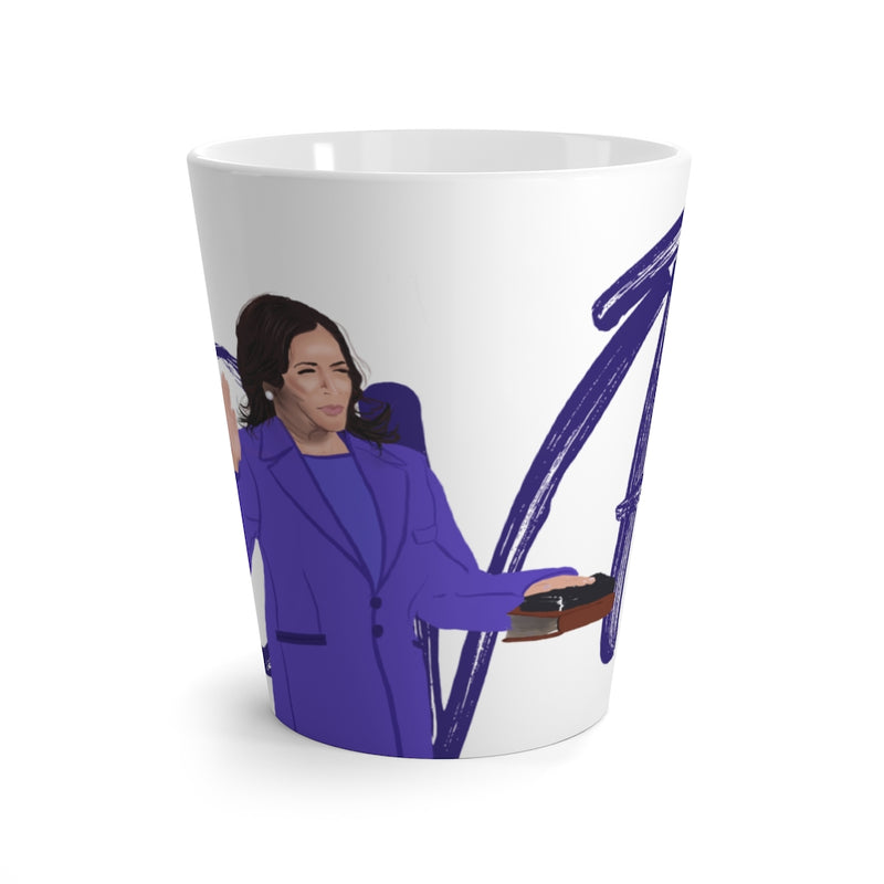 @VP Scribble Kamala Harris Swearing In Latte Mug | Abi C Designs