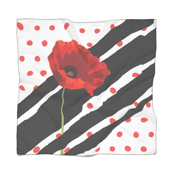 Poppy Dot Scarf Black on White | Abi C Designs