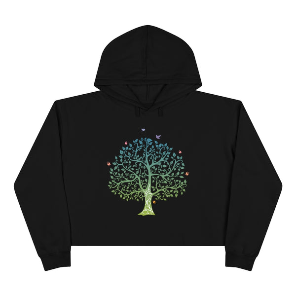 Tree of Life Crop Hoodie