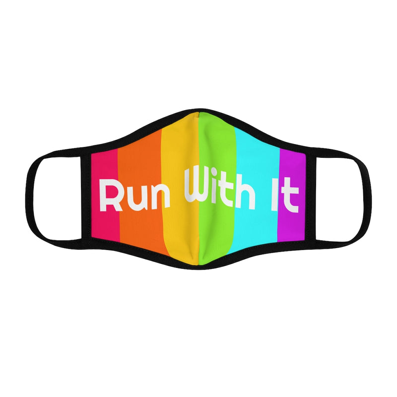 Run With It | Fitted Polyester Face Mask