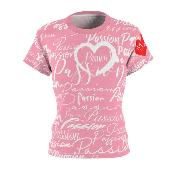 Passion Heart Tourist Pink Tee | Just Abi Collection