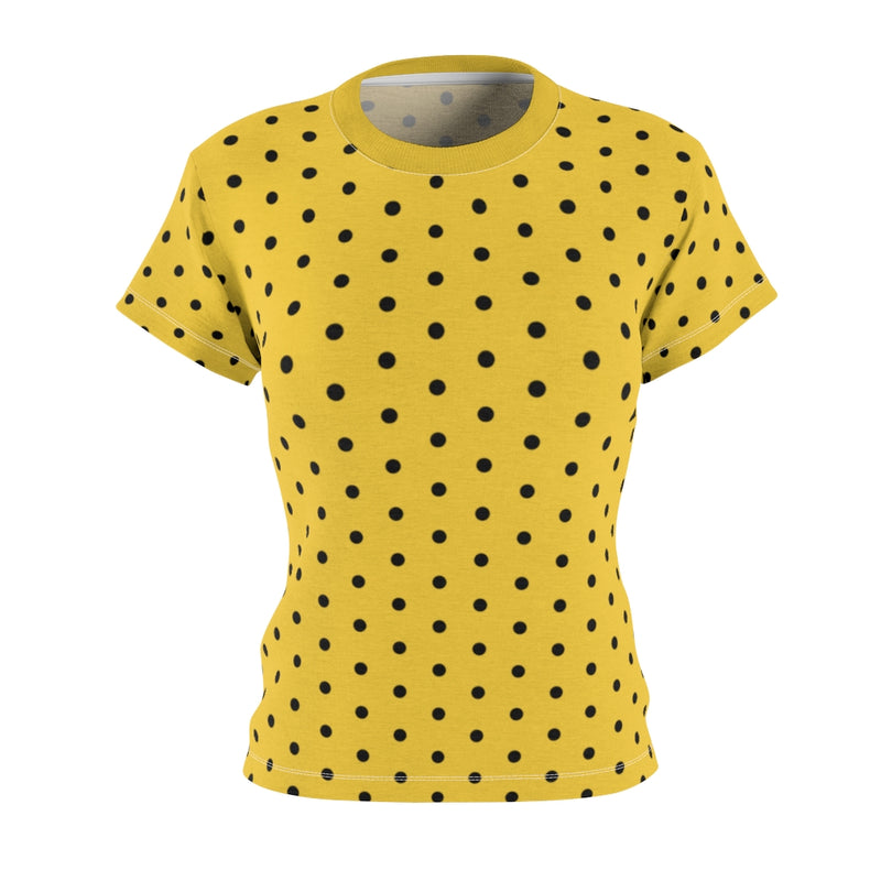 Stripy Dots Stripeless Saffron Tee | Abi C Designs
