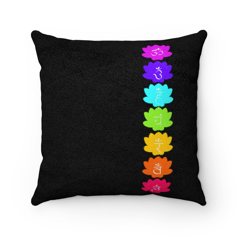 Crown Chakra Faux Suede Square Pillow | Just Abi Chakra Collection