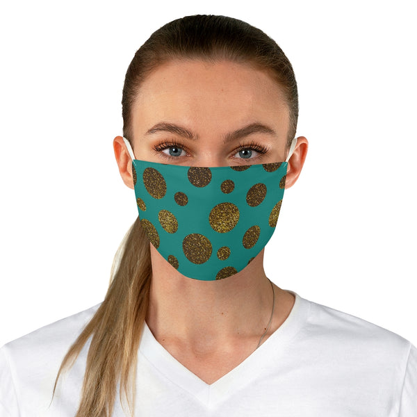 Glitter-Me-Not Teal Fabric Face Mask