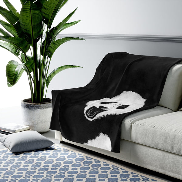 Sean's Panda Velveteen Plush Blanket | Just Abi Collection