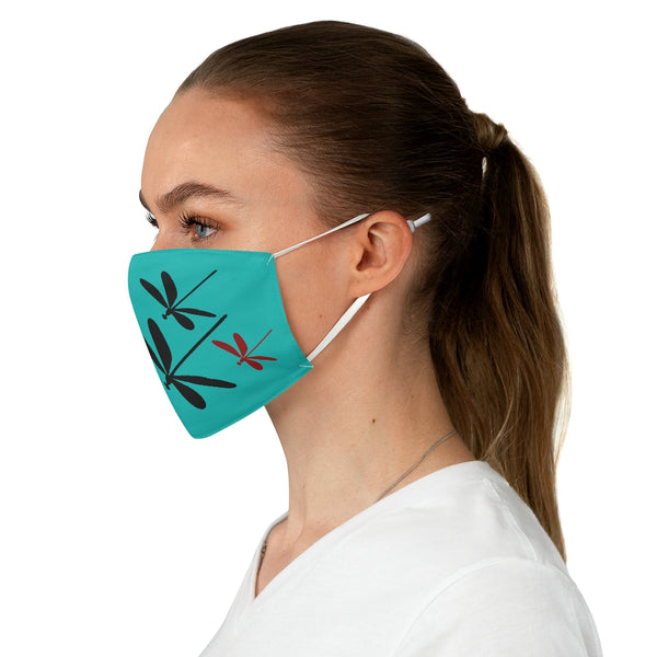 Dragonflies Fabric Face Mask - Tiffany | Just Abi Collection