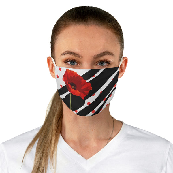 Poppy Dot Face Mask Black