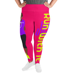 Run With It - Deirdre | Hot Red Plus-Size Performance Leggings | Just Abi Athletic Collection