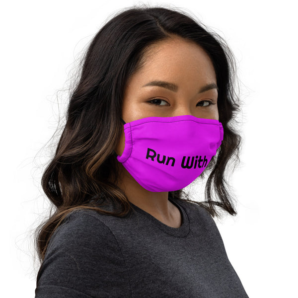Run With It - Kristin | Pilates Purple Premium Nose Wire Face Mask | Just Abi Athletic Collection