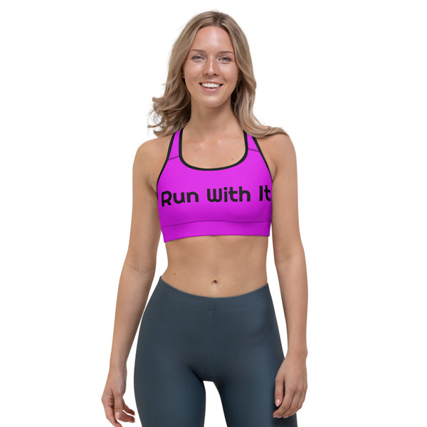 Run With It - Kristin | Pilates Purple Moisture-Wicking Sports Bra | Just Abi Athletic Collection