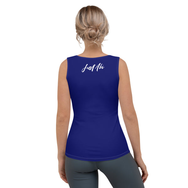 4th of July | Navy Performance Tank Top | Just Abi Athletic Collection