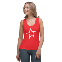 4th of July | Red Star Performance Tank Top | Just Abi Athletic Collection
