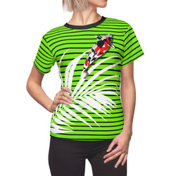 Stripy Dots Calico Koi Verdant Dotless Tee | Just Abi Collection