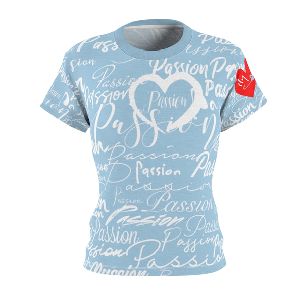 Passion Heart Powder Tee | Just Abi Collection