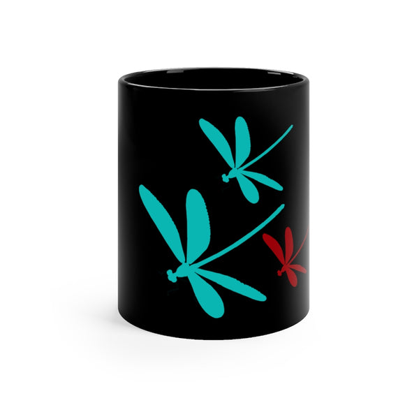 Dragonfly Black Mug | Just Abi Housewares Collection