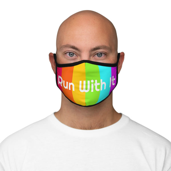 Run With It - Rainbow - Fitted Polyester Face Mask