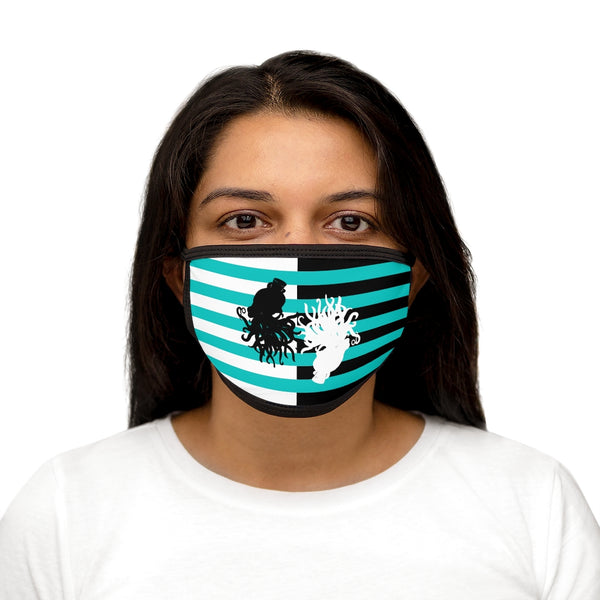 Cthulhu Stripe Tiffany Mixed-Fabric Face Mask | Abi C Designs