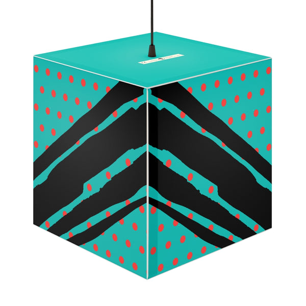 Poppy Dot Black on Tiffany Light Cube | Abi C Designs