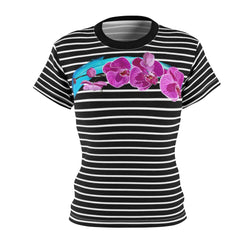 Stripy Dots Dotless Orchid Tee | Just Abi Collection