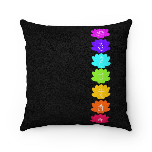 Throat Chakra Faux Suede Square Pillow | Just Abi Chakra Collection