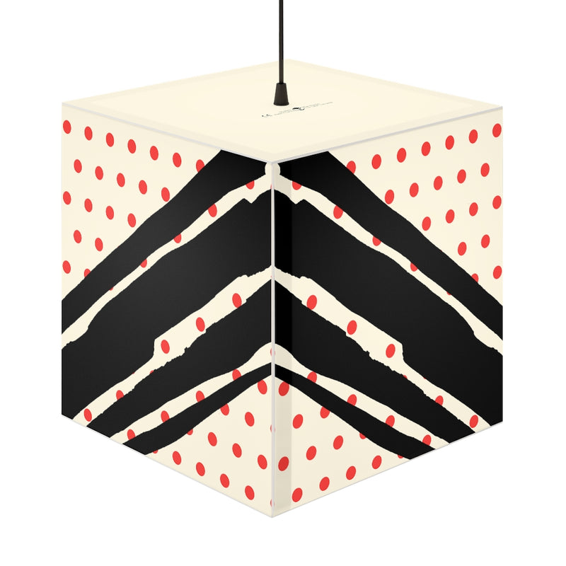 Poppy Dot Black on White Light Cube | Abi C Designs