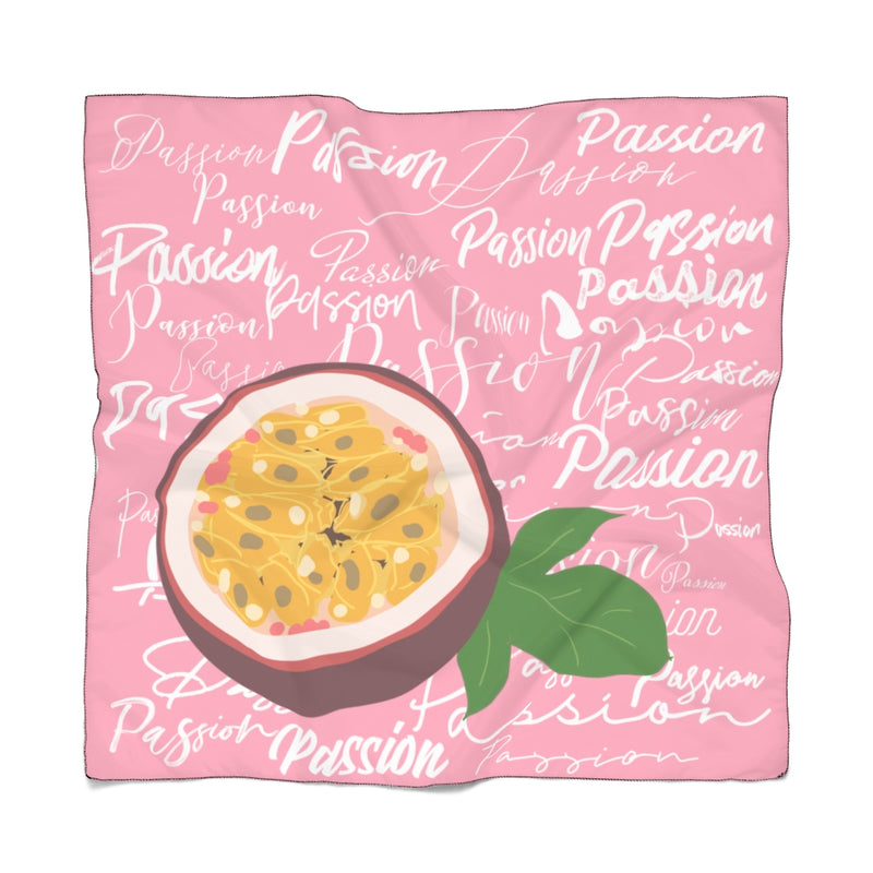 Passion Fruit Tourist Pink Poly Scarf | Just Abi Collection